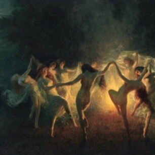 satanic witches dancing