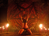 Woman Performs Satanic Ritual