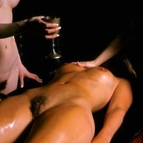 Naked Woman Satanic Ritual Altar
