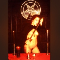 Nude Woman and Satanic Ritual - Hail Satan