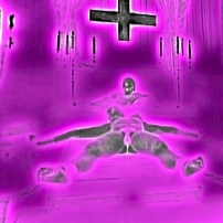 nude woman on satanic altar