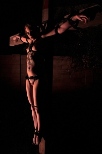 Nude Woman Crucified