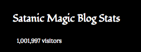 The Aleister Nacht Satanic Magic Blog has one (1) million visitors