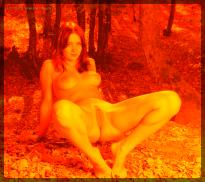 satanic nude woman