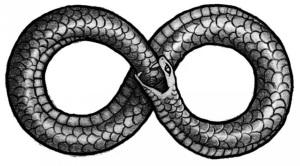 The Ouroboros Satanic Symbol